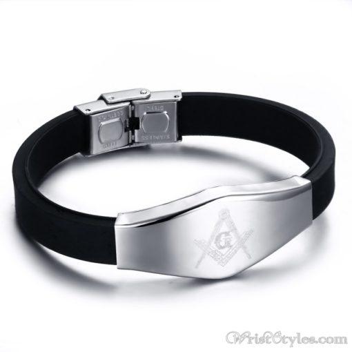 Masonic Silicone Bracelet VN615701SI 7