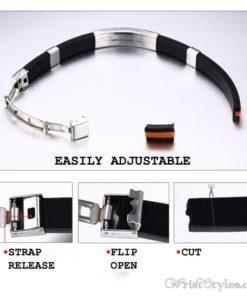 Masonic Silicone Bracelet VN615701SI 9