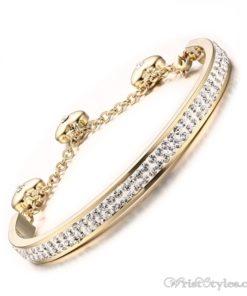 Adjustable Length Rhinestones Charm Bracelet VN501544BA 1