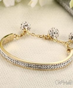 Adjustable Length Rhinestones Charm Bracelet VN501544BA 3
