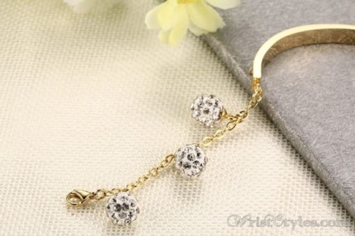 Adjustable Length Rhinestones Charm Bracelet VN501544BA 4