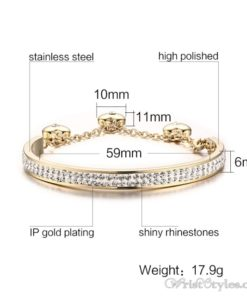 Adjustable Length Rhinestones Charm Bracelet VN501544BA 5