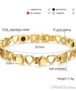 Heart Design Therapeutic Bracelet VN055867BR 2