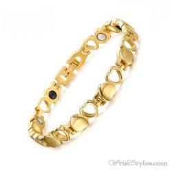 Heart Design Therapeutic Bracelet VN055867BR