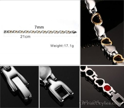 Heart Design Therapeutic Bracelet VN055867BR 3