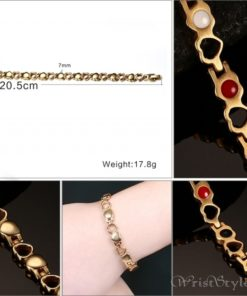 Heart Design Therapeutic Bracelet VN055867BR 8