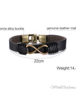 Infinity Genuine Leather Bracelet VN079755LB 1