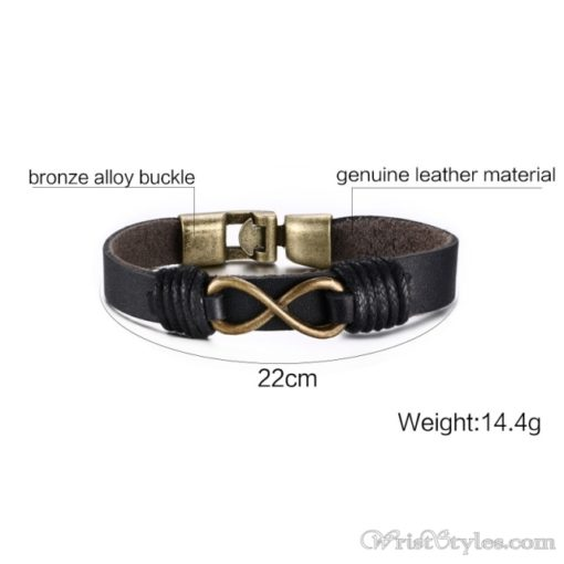 Infinity Genuine Leather Bracelet VN079755LB 1