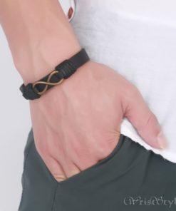 Infinity Genuine Leather Bracelet VN079755LB 2