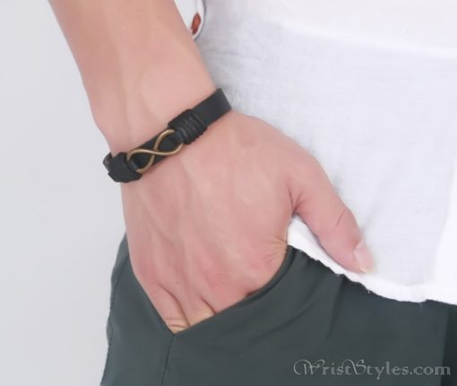 Infinity Genuine Leather Bracelet VN079755LB 2