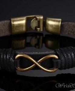 Infinity Genuine Leather Bracelet VN079755LB 6