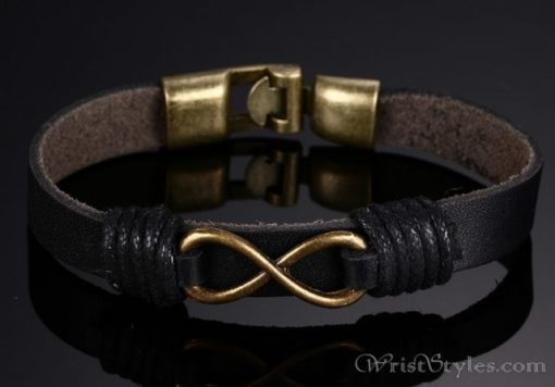 Infinity Genuine Leather Bracelet VN079755LB 6
