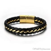 Leather And Wire Bracelet VN000270BR
