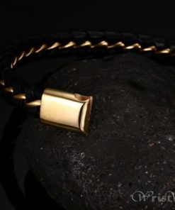 Leather And Wire Bracelet VN000270BR 5
