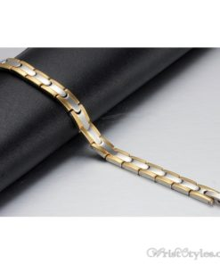 Magnetic Stainless Steel Therapy Bracelet VN257031BR 1