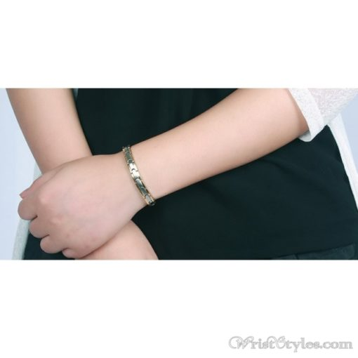 Magnetic Stainless Steel Therapy Bracelet VN257031BR 2