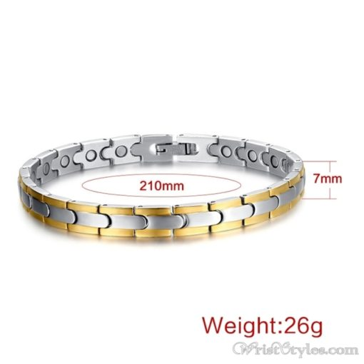 Magnetic Stainless Steel Therapy Bracelet VN257031BR 3