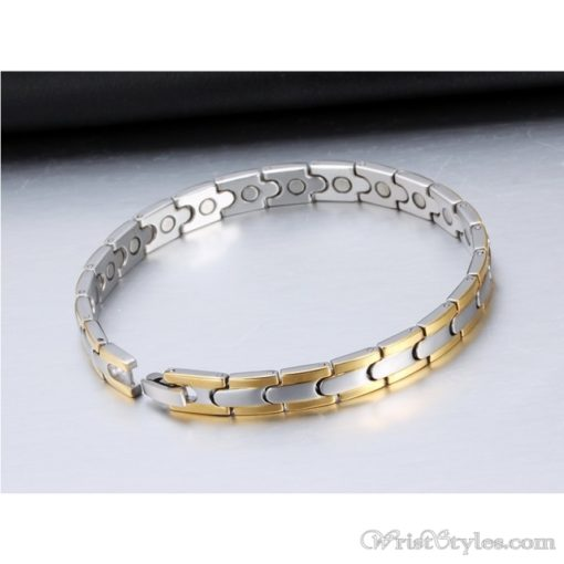 Magnetic Stainless Steel Therapy Bracelet VN257031BR 4