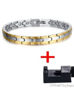 Magnetic Stainless Steel Therapy Bracelet VN257031BR 5