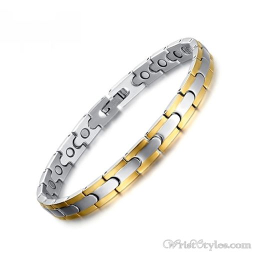 Magnetic Stainless Steel Therapy Bracelet VN257031BR