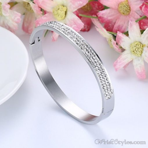 Stainless Steel Crystal Bangle VN439606BA 1