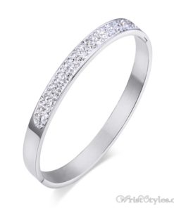 Stainless Steel Crystal Bangle VN439606BA 3