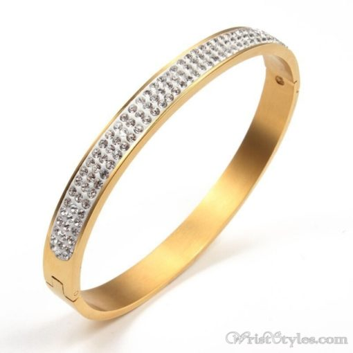 Stainless Steel Crystal Bangle VN439606BA