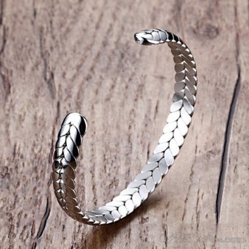 Wheat Design Cuff Bangle VN203997BA 2
