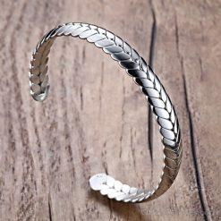 Wheat Design Cuff Bangle VN203997BA