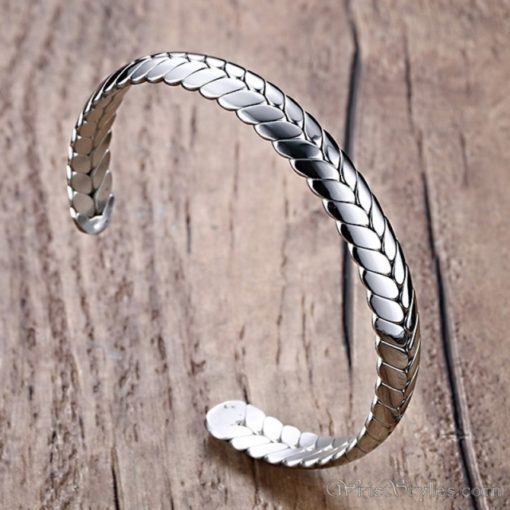 Wheat Design Cuff Bangle VN203997BA