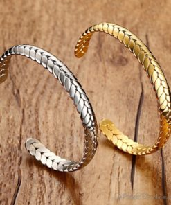 Wheat Design Cuff Bangle VN203997BA 6