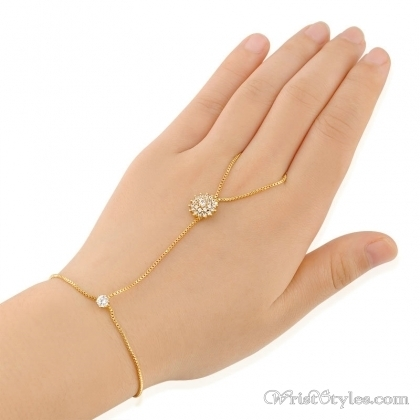 Gold Orb Hand Chain NA280036HC Wrist Styles
