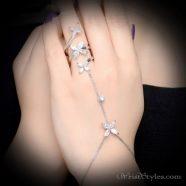 Tri Floral Ring Hand Chain NA454506HC