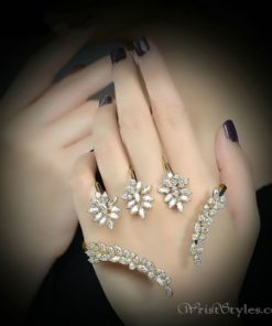 Triple Floral Palm Cuff NA323246PC