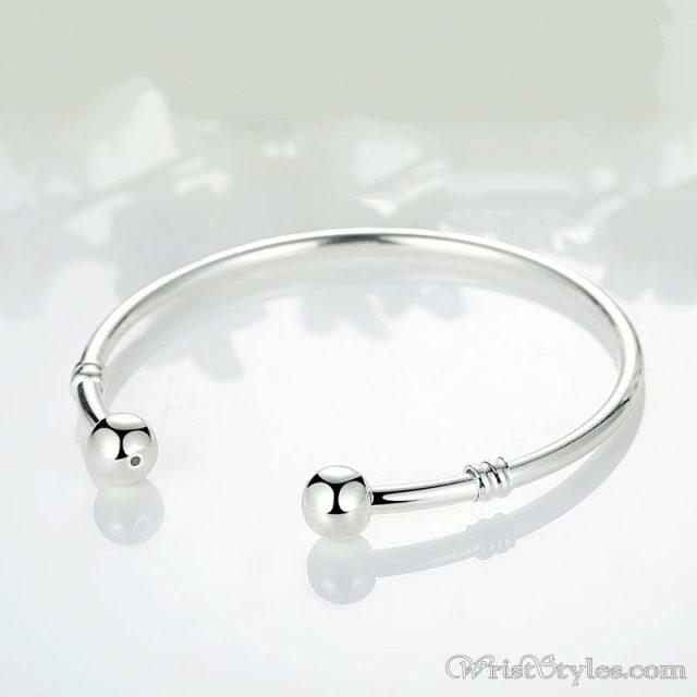 5d35a706616 Classic Open Cuff Charm Bangle | Wrist Styles