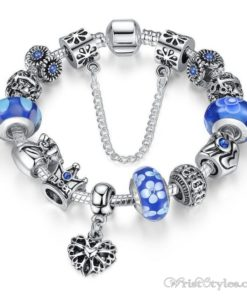 Crowned Queen Charm Bracelet BA533690CB 10