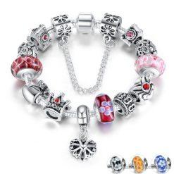 Crowned Queen Charm Bracelet BA533690CB