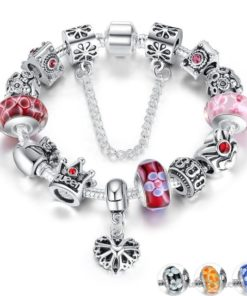 Crowned Queen Charm Bracelet BA533690CB