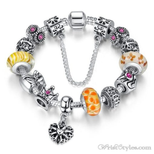 Crowned Queen Charm Bracelet BA533690CB 3