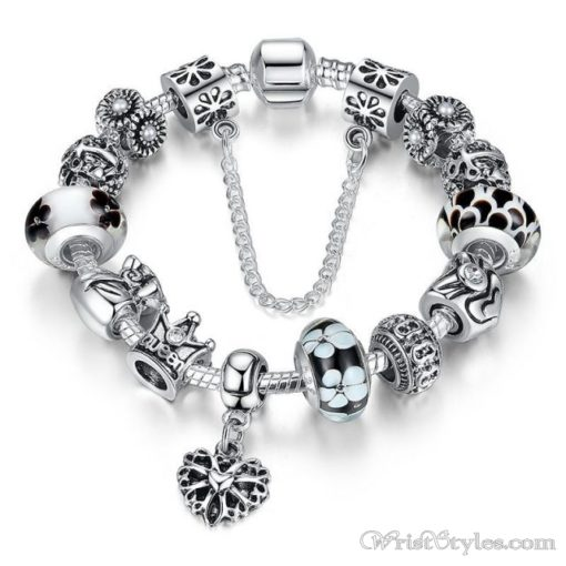 Crowned Queen Charm Bracelet BA533690CB 4