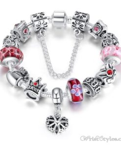 Crowned Queen Charm Bracelet BA533690CB 8