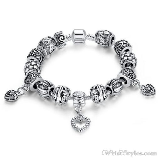 Heart Pendant Charm Bracelet BA893382CB 1