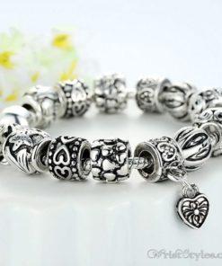Heart Pendant Charm Bracelet BA893382CB 3