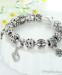 Heart Pendant Charm Bracelet BA893382CB 4