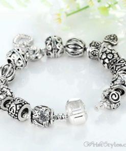 Heart Pendant Charm Bracelet BA893382CB 5