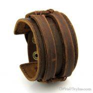 Leather Wide Cuff Bracelet BA933648LB