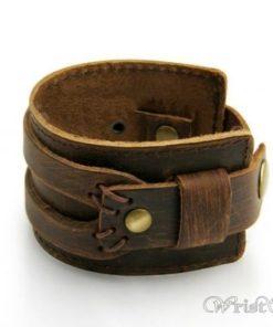 Leather Wide Cuff Bracelet BA933648LB 3