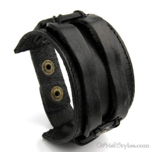 Leather Wide Cuff Bracelet BA933648LB 4