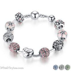 Love Flower Charm Bracelet BA036822CB-1
