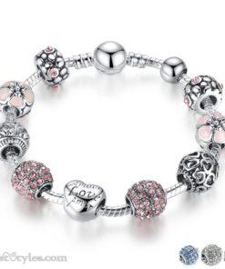 Love Flower Charm Bracelet BA036822CB 1